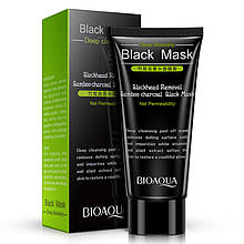 Чорна маска-плівка з вугіллям від чорних точок Bioaqua Black Mask Blackhead Removal, 60 г