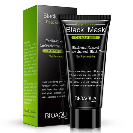 Черная маска-пленка с углем от черных точек Bioaqua Black Mask Blackhead Removal, 60 г, фото 2
