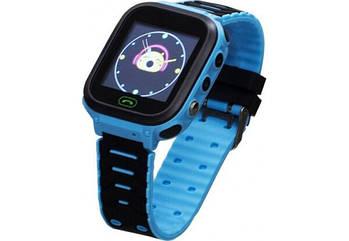 Детские умные часы (смарт часы с GPS + родительский контроль + фонарь) Smart Baby T18, (Голубой)