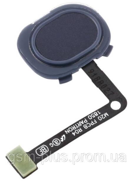 Шлейф Samsung Galaxy M20 M205F зі сканером відбитка пальця Black