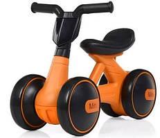 Беговел детский 2 в 1 PROFI KIDS M 4086-7, оранжевый