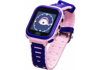Детские умные часы (смарт часы с GPS + родительский контроль + фонарь) Smart Baby T18, (Розовый)