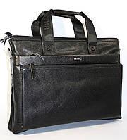 Портфель кожаный черный Prada 1023, фото 1