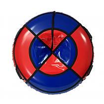 Тюбинг, надувные санки 100 см красно-синий (ПВХ)