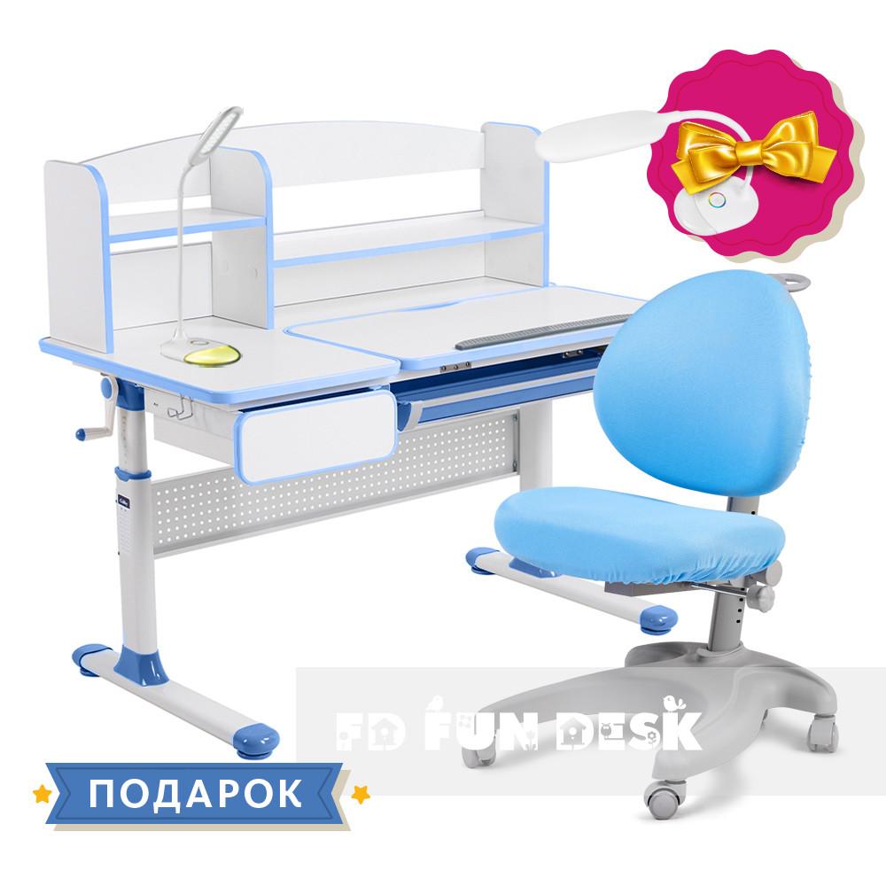 Комплект для школьника парта Cubby Rimu Blue + эргономичное кресло FunDesk Cielo Blue