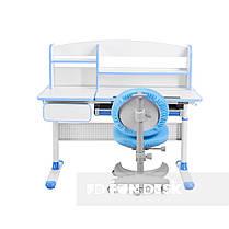 Комплект для школьника парта Cubby Rimu Blue + эргономичное кресло FunDesk Cielo Blue, фото 2