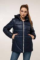 Демисезонная куртка с контрастной спинкой и отстегивающимся капюшоном с 44 по 54 размер, фото 7