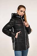 Демисезонная куртка с контрастной спинкой и отстегивающимся капюшоном с 44 по 54 размер, фото 10
