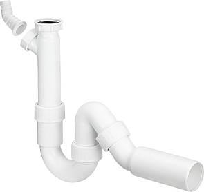 Сифон для умывальника VIEGA трубный для моек с отводным коленом 1 1/2, пластик