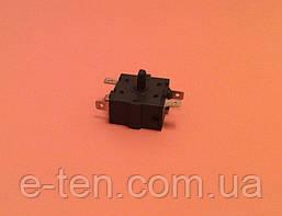 Перемикач потужності на 5 виходів (контакти 2+3) / 15A / 250V для обігрівачів, електрокамінів Китай