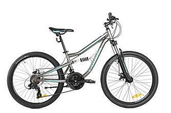 Підлітковий двухподвесной велосипед Crosser Legion 24