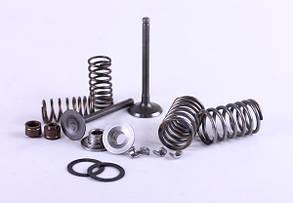 Клапани комплект (пружини, сухарі, сальники, тарілки) - для мопеда Актив/Дельта/Альфа