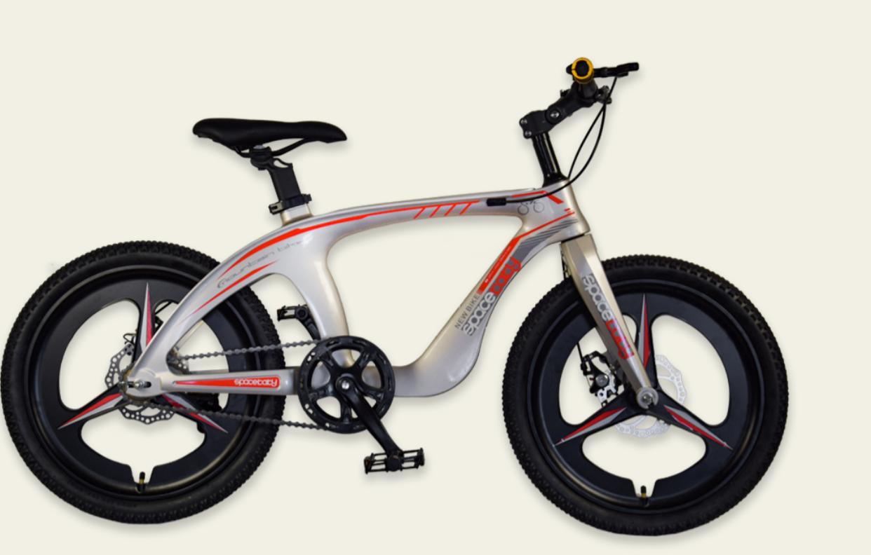 Двухколесный спортивный магниевый велосипед 20 дюймов с литыми дисками M20301 золотой
