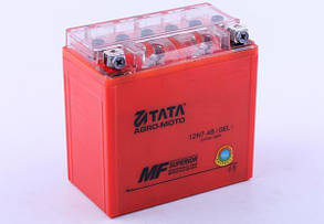Аккумулятор гелевый, 7Аh-12N7-4B, оранж., 137*77*124мм - OUTDO, Мотоцикл