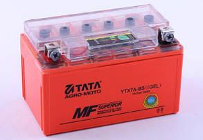 Аккумулятор гелевый, 7Аh-YTX7A-BS, оранж., 150*86*94мм - OUTDO