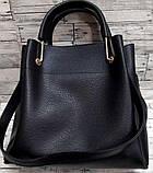 Брендова жіночий сумка Michael Kors, бордова з металевими ручками 28*26 см, фото 2