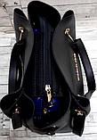Брендова жіночий сумка Michael Kors, бордова з металевими ручками 28*26 см, фото 3