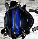 Брендова жіночий сумка Michael Kors, бордова з металевими ручками 28*26 см, фото 4