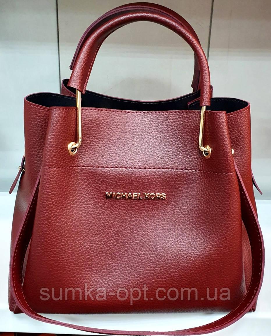 Брендова жіночий сумка Michael Kors, бордова з металевими ручками 28*26 см