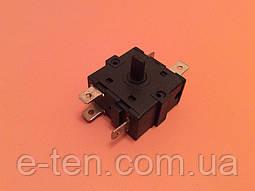 Перемикач потужності на 6 виходів (контакти 3+3) / 16A / 250V для обігрівачів, електрокамінів Китай