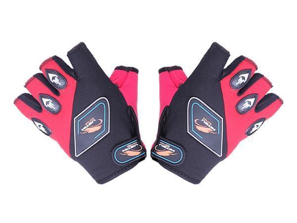 Мотоперчатки YM001-15 (короткі) червоні size L КОД 2540