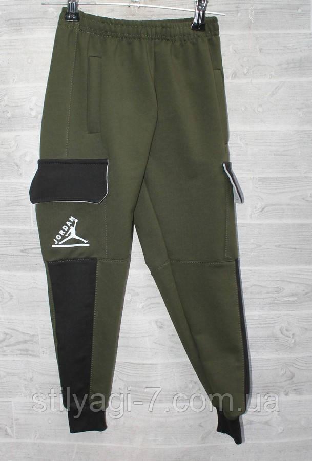 Спортивные штаны для мальчика на 6-10 лет черного, синего, хаки цвета Джордан оптом