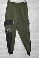 Спортивные штаны для мальчика на 6-10 лет черного, синего, хаки цвета Джордан оптом, фото 1