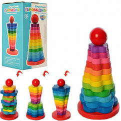Дерев'яна іграшка Limo Toy Піраміда