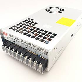 Блок питания для светодиодной ленты 24В 450Вт MEANWELL SE-450-24. Трансформатор для led ленты 24V