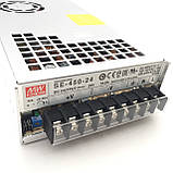 Блок питания для светодиодной ленты 24В 450Вт MEANWELL SE-450-24. Трансформатор для led ленты 24V, фото 4