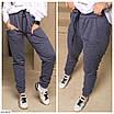 Женские штаны джоггеры на флисе большого размера, размеры 50, 52, 54, фото 2