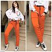 Женские штаны джоггеры на флисе большого размера, размеры 50, 52, 54, фото 3