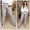 Женские штаны джоггеры на флисе большого размера, размеры 50, 52, 54, фото 4