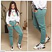 Женские штаны джоггеры на флисе большого размера, размеры 50, 52, 54, фото 5