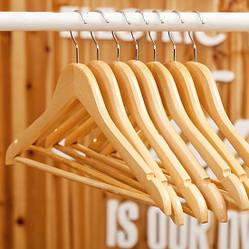 Плечики вешалки тремпеля деревянные LUX для верхней одежды, костюмов лакированные 5 шт, 44 см