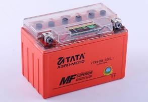 Аккумулятор гелевый, 9Аh-YTX9-BS, оранж., 150*85*105мм, С ИНДИКАТОРОМ - OUTDO