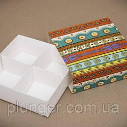 Коробка-пенал універсальна для цукерок, печива, зефіру, мілований картон Етно