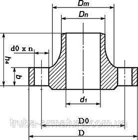 Фланець комірний сталевий Ру 16 Ду 50, фото 2