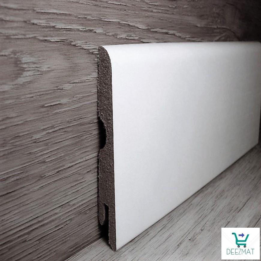 Ламінована плінтус МДФ підлоговий Pedross Дуб білий, 70х14х2400мм