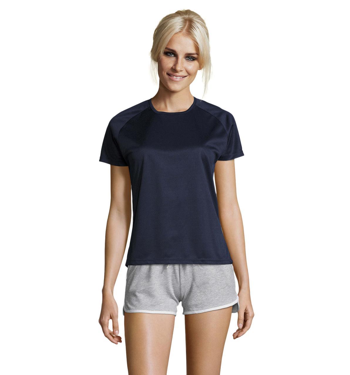 Женская спортивная футболка, т.синий, SOL'S SPORTY WOMEN от XS до XXL