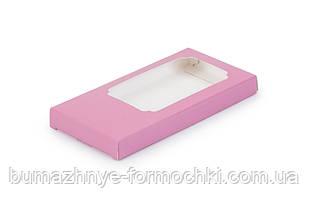 Коробка для шоколада 155х75х11 мм, розовая