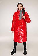 Зимовий стеганний пуховик з капюшоном напівприлягаючого силуету з 44 по 54 розмір, фото 3