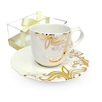 2320-4 Чашка з блюдцем Жаклін (чашка 220мл, блюдце 15,5см)