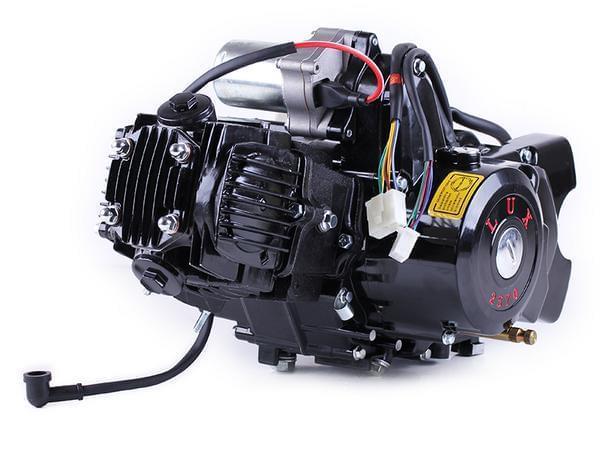 Двигун Дельта/Альфа/Актив (110CC) — механіка (з електростартером і карбюратором) BLACK — TATA LUX