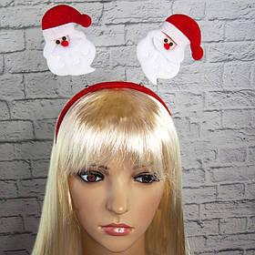 Антенки на ободке Дед Мороз