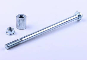 Вісь колеса переднього Ø10 мм (з втулкою та гайкою) - Дельта/Альфа