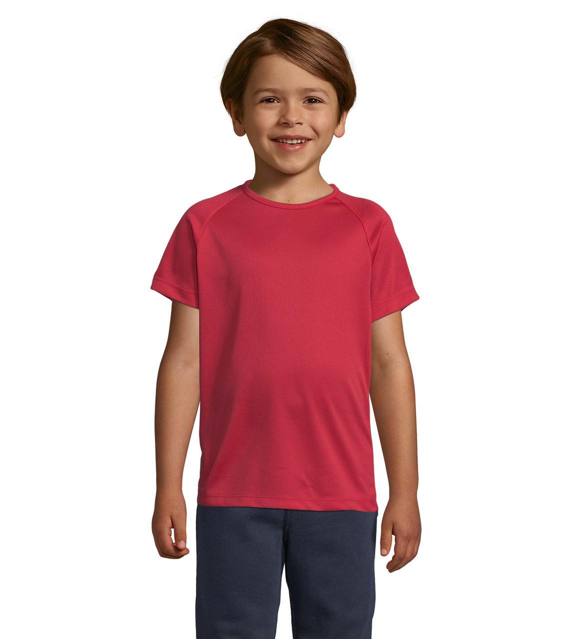Детская спортивная футболка, красный, SOL'S SPORTY KIDS от 6 до 12 лет
