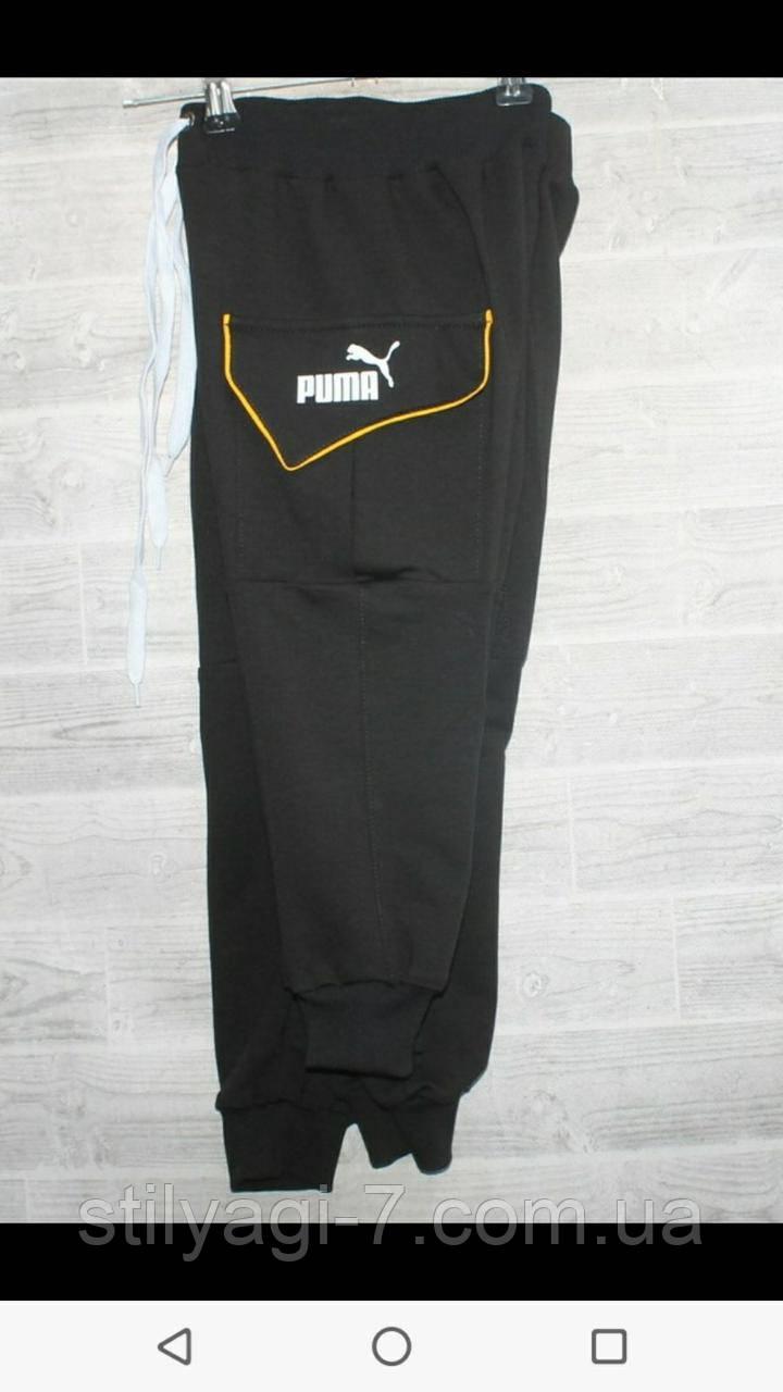 Спортивные штаны для мальчика на 2-6 лет черного, хаки цвета с надписью Пума оптом