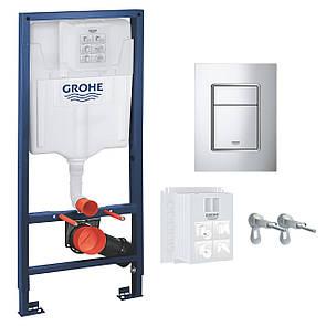 Инсталляция для унитаза GROHE  RAPID SL 3в1 для подвесного (бачок, крепеж, кнопка хром - двойн. слив 37535000)