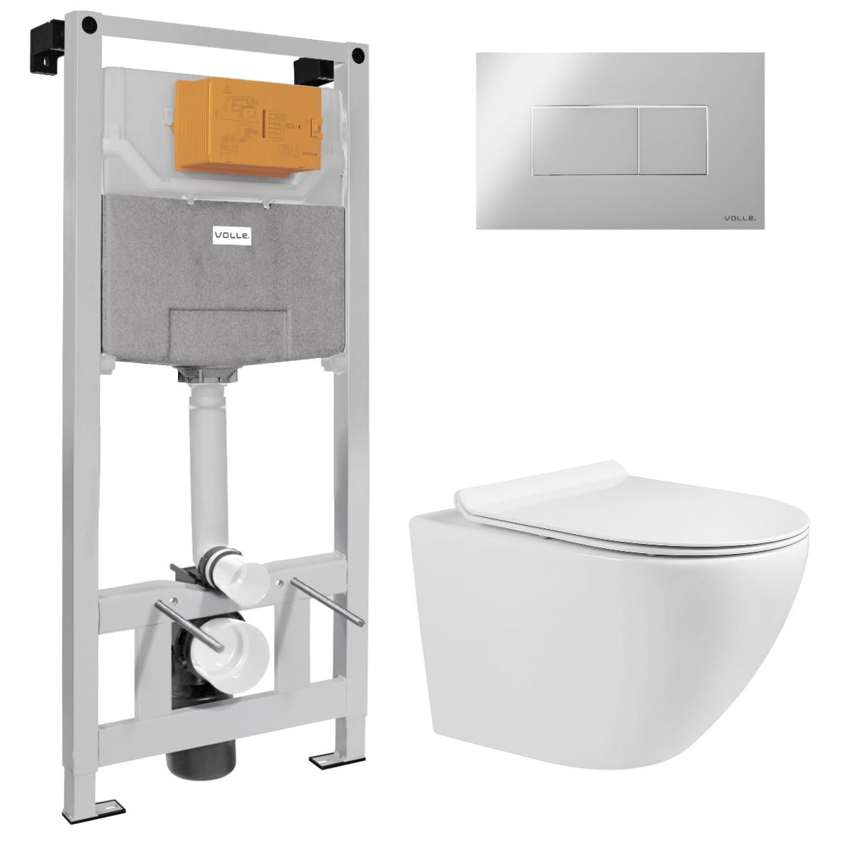 Набір інсталяційний VOLLE AMADEUS M Rimless унітаз 48x37x37 см підвісний сидіння Slim slow-closing + VOLLE